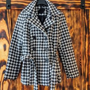 Jou Jou Jackets & Coats - Jou Jou Black and white peacoat jacket